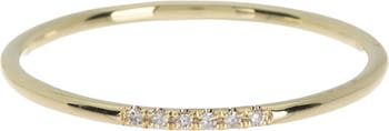 14K Yellow Gold Diamond Accent Ring - Size 7 - 0.02 ctw Meira T
