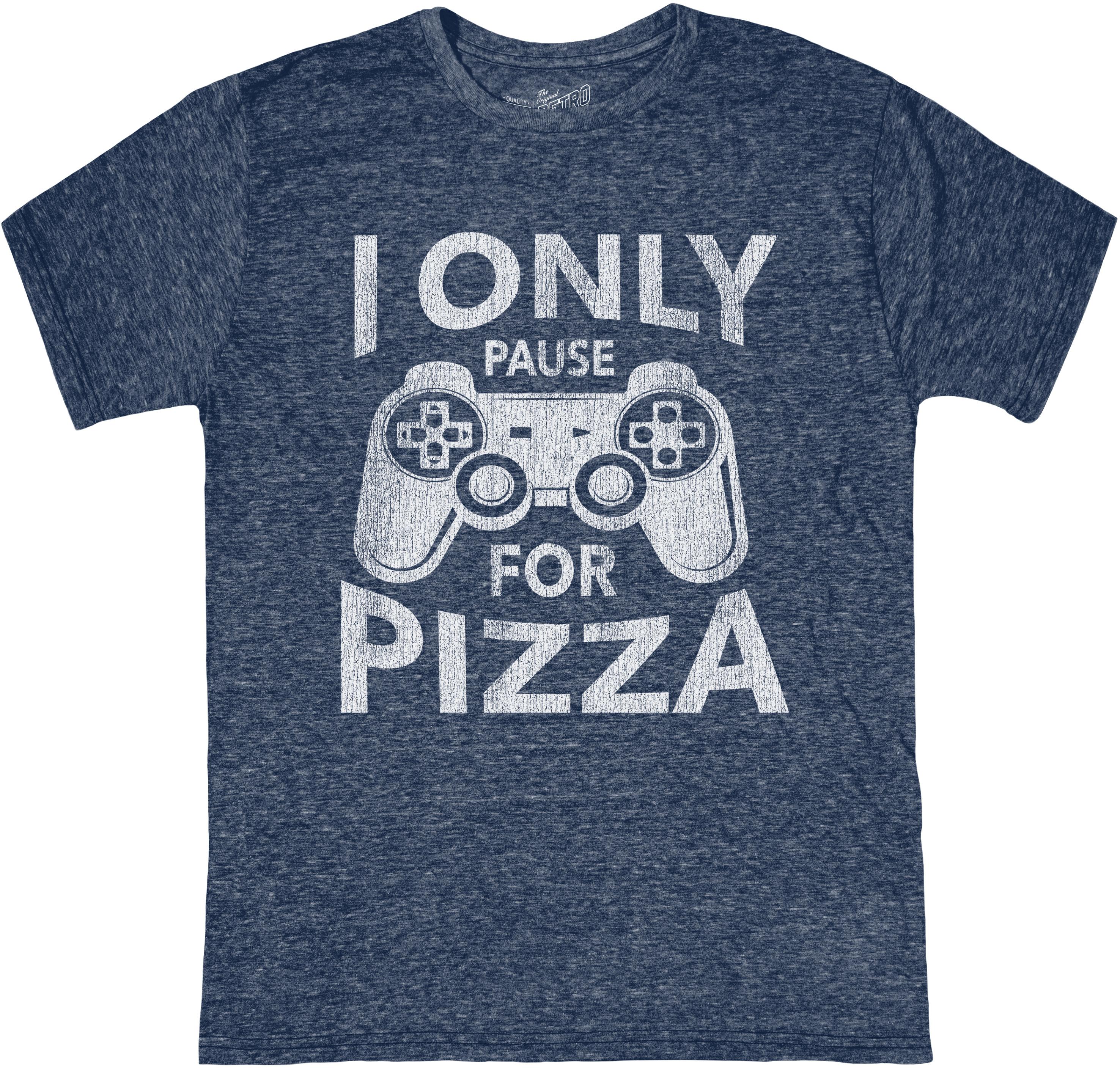 Футболка с круглым вырезом Tri-Blend I Only Pause For Pizza (Big Kids) The Original Retro Brand Kids