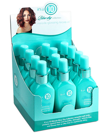 Blow Dry Miracle Glossing Leave-In, 4 унции, от PUREBEAUTY Salon & Spa ITS A 10