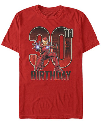 Мужская футболка с короткими рукавами Fifth Sun Iron Man 30th Birthday Action Pose Marvel