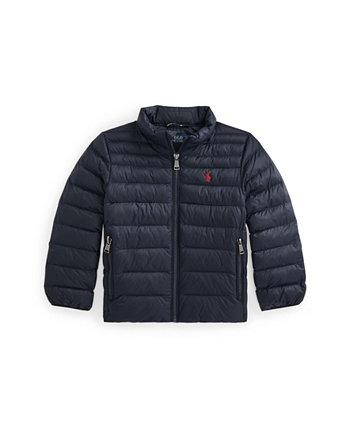 Водоотталкивающая упаковываемая куртка Little Boys Ralph Lauren