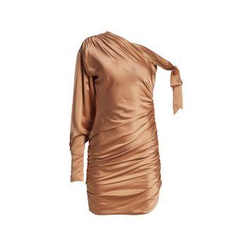 Шелковое коктейльное платье Thea Cinq a Sept