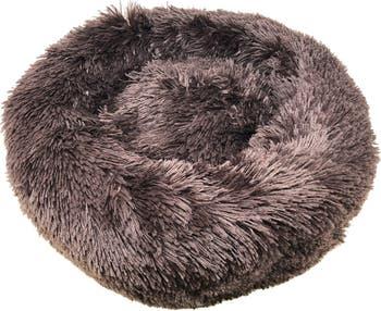 """Высококачественная плюшевая и мягкая закругленная кровать для собак """"Nestler"""" - средний размер Pet Life"""