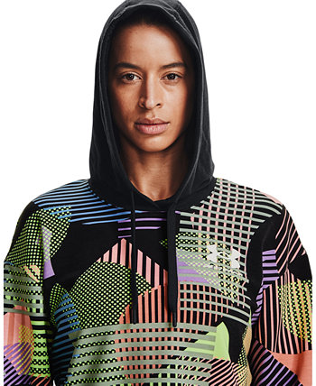 Women's Rival Terry Geometric-Print Hoodie Under Armour