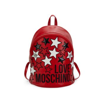 Stars Faux Leather Backpack LOVE Moschino