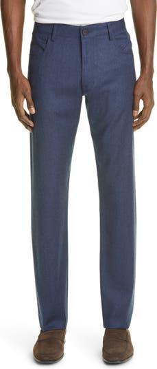 Мужские шерстяные классические брюки с потертостями Canali