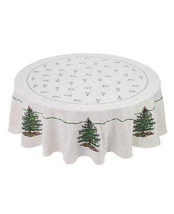 Круглая скатерть Christmas Tree 70 дюймов цвета слоновой кости Spode