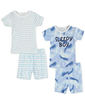 Малыши для мальчиков 4 шт. Хлопковая пижама с принтом Cutie Pie Baby