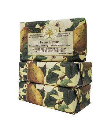 Французское грушевое мыло с пакетом из 3, 7 унций Wavertree & London