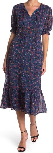 Платье миди с объемными рукавами Keyhole Collective Concepts