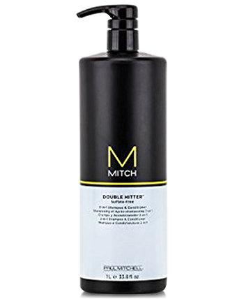 Mitch Double Hitter 2-в-1 шампунь и кондиционер, 33,8 унции, от PUREBEAUTY Salon & Spa PAUL MITCHELL