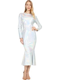 Платье с длинным рукавом в форме рыбьего хвоста до средней длины KAMALIKULTURE by Norma Kamali