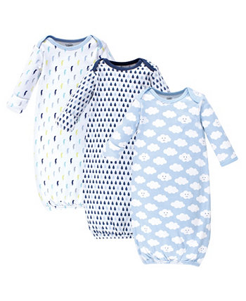 Хлопковые платья для маленьких девочек, 3 пары Luvable Friends