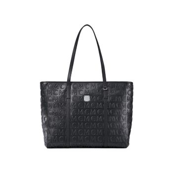 Кожаная сумка-шоппер Toni среднего размера с монограммой MCM
