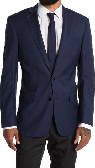 Темно-синий костюм Regent Fit с двумя пуговицами и лацканами из смесовой шерсти в клетку отделяет жакет Brooks Brothers