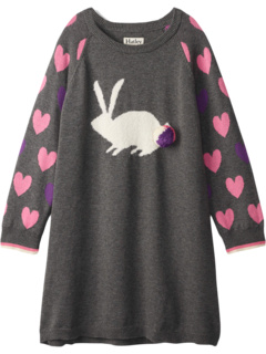 Bunny Hearts Sweater Dress (Toddler/Little Kids/Big Kids) Hatley Kids