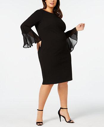 Платье большого размера с иллюминатором Calvin Klein