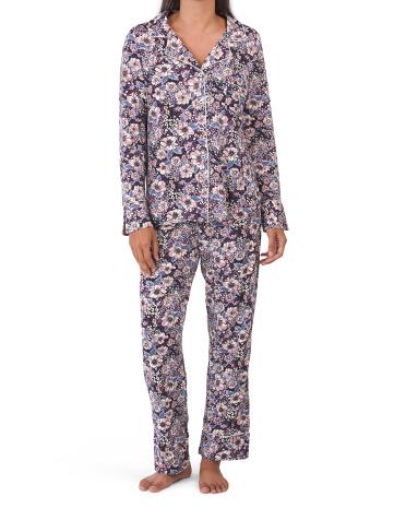 Пижамный комплект с длинным рукавом и цветочным узором Thalia Sodi