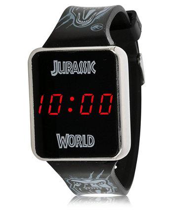 Детские сенсорные часы Jurassic Park со светодиодным экраном и черным силиконовым ремешком, 36 мм x 33 мм ACCUTIME