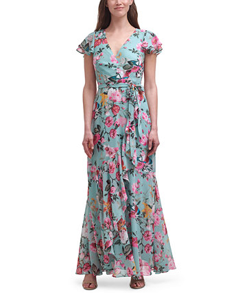 Шифоновое платье с искусственным запахом и цветочным принтом Eliza J