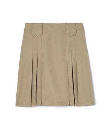 Плиссированная юбка спереди с большими вкладками для девочек French Toast
