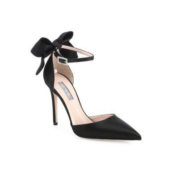 Атласные туфли с ремешком на щиколотке Trance Bow SJP by Sarah Jessica Parker