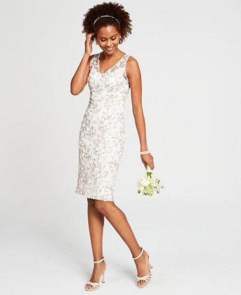Платье-футляр с цветочным принтом Adrianna Papell