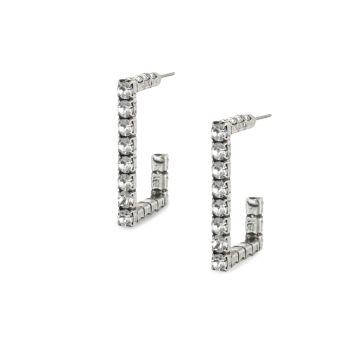 Квадратные серьги-кольца Archer Swarovski с кристаллами DANNIJO