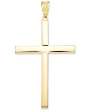 Подвеска-крест из 14-каратного золота Italian Gold