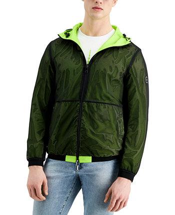 Двусторонняя мужская куртка с капюшоном Acid Lime Armani Exchange