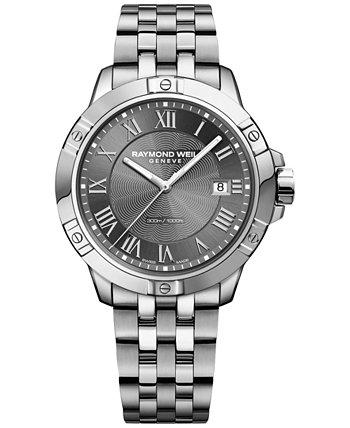 Мужские часы Swiss Tango из нержавеющей стали с браслетом 41 мм 8160-ST-00608 Raymond Weil