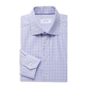 Slim-Fit Checked Dress Shirt Eton