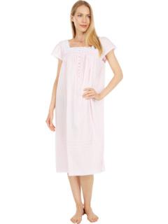 Короткое платье с короткими рукавами из хлопка в полоску добби с короткими рукавами Eileen West