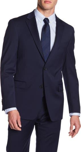 Костюм Adams с двумя пуговицами и отворотом Modern Fit TH Flex Performance отделяет куртку Tommy Hilfiger