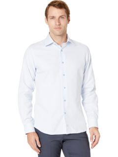 Классическая рубашка с отделкой в горошек David Donahue
