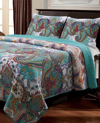 Комплект стеганого одеяла Nirvana, двухкомпонентный двойной Greenland Home Fashions
