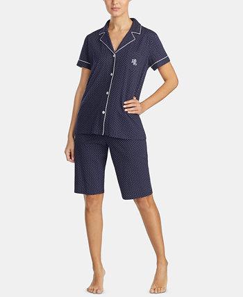 Хлопковый пижамный комплект Bingham Bermuda Ralph Lauren