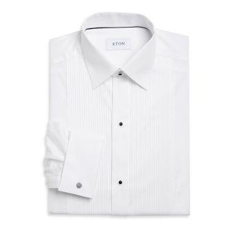 Приталенная формальная рубашка со складками и нагрудником Eton