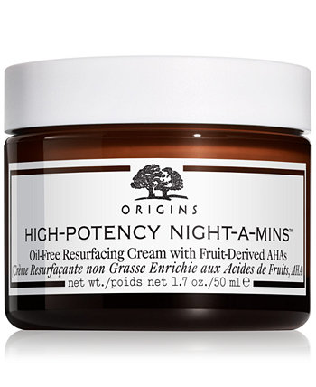High-Potency Night-A-Mins Безмасляный восстанавливающий крем с фруктовыми производными AHA, 1,7 унции. Origins
