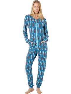 Цельный комбинезон пижамный с капюшоном KicKee Pants