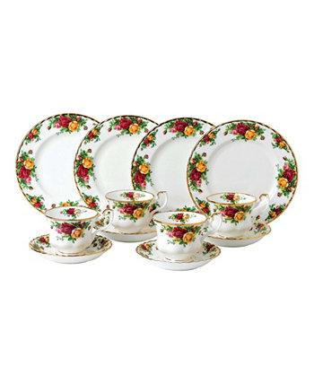 Чайный развлекательный набор из 12 предметов Old Country Roses, созданный для Macy's Royal Albert