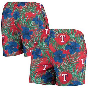 Men's Royal Texas Rangers Floral Swim Trunks Unbranded