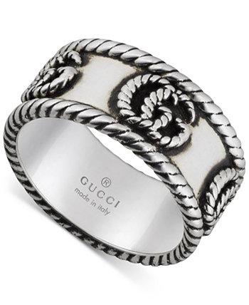 Массивное кольцо с двойной буквой G из стерлингового серебра GUCCI