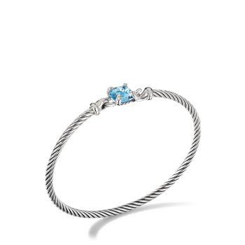 Браслет Chatelaine® из стерлингового серебра с бриллиантами и бриллиантами. Драгоценный камень David Yurman