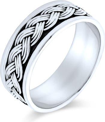 Плетеный браслет для красоты из стерлингового серебра Bling Jewelry