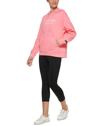 Женская толстовка с капюшоном с логотипом Calvin Klein