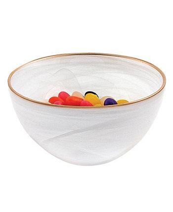 Стеклянная чаша из алебастра 6 дюймов с ободком Badash Crystal