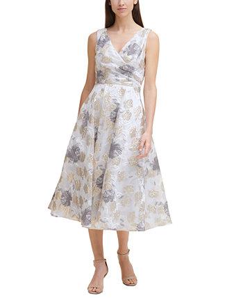 Printed Midi Dress Eliza J