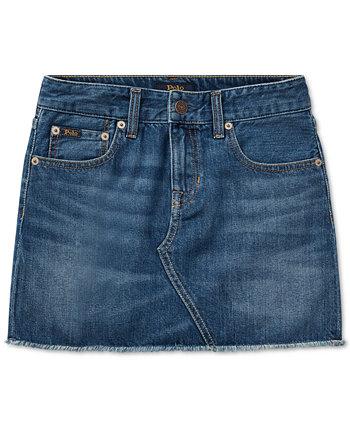 Детская джинсовая хлопковая юбка для девочек Ralph Lauren