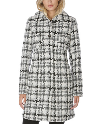 Однобортное твидовое пальто Walker Laundry by Shelli Segal
